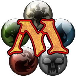 Logo del juego Magic: The Gathering con los cinco símbolos de mana