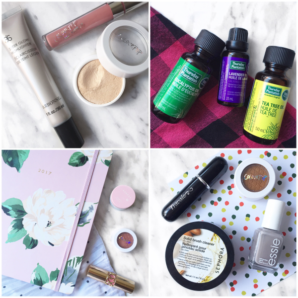 bbloggers, bbloggersca, canadian beauty bloggers, instamonth, round up, blog, arbonne sheer glow, colourpop lunch money, thursday plantation essential oils, ban.do agenda, gift guide, stocking stuffers