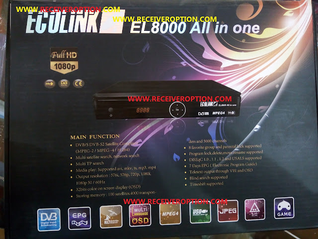 ECOLINK EL8000 ALL IN ONE HD RECEIVER POWERVU KEY SOFTWARE