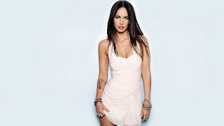 Megan Fox In Short White Skirt