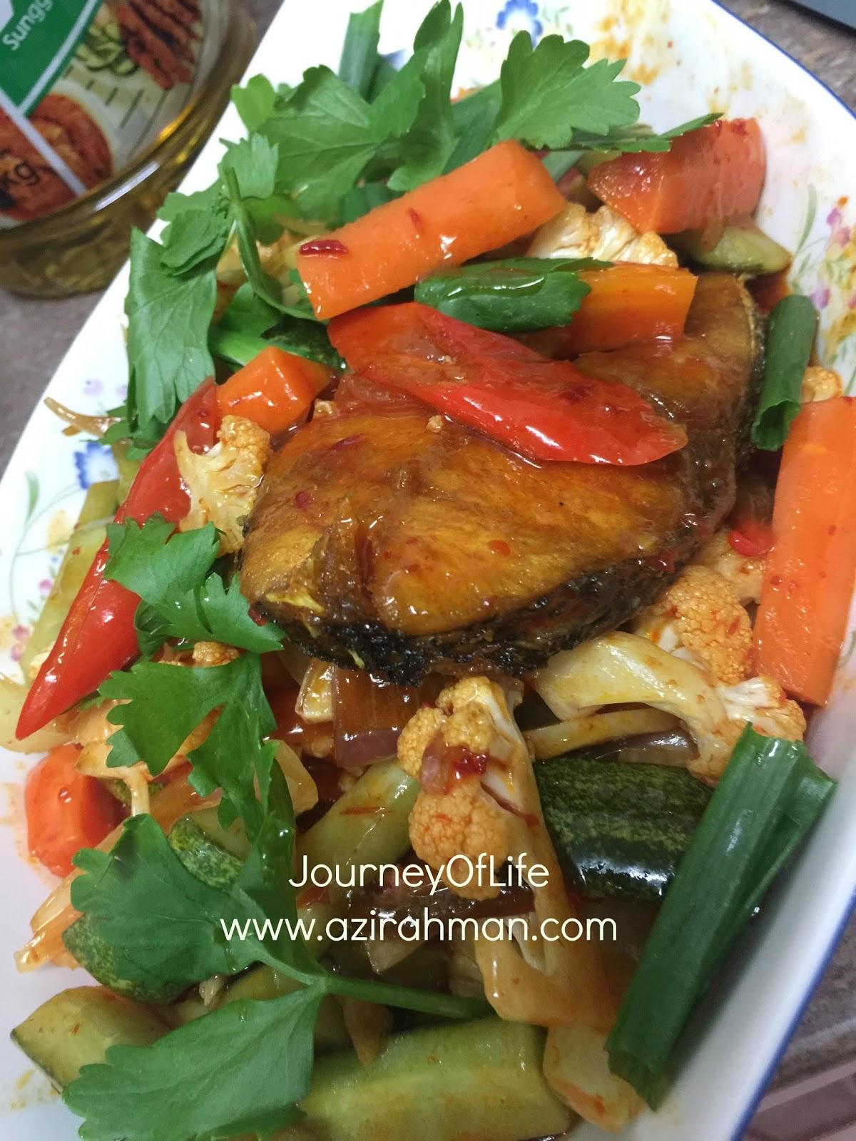 ikan goreng sweet sour, lauk mudah, resepi mudah, cepat makan