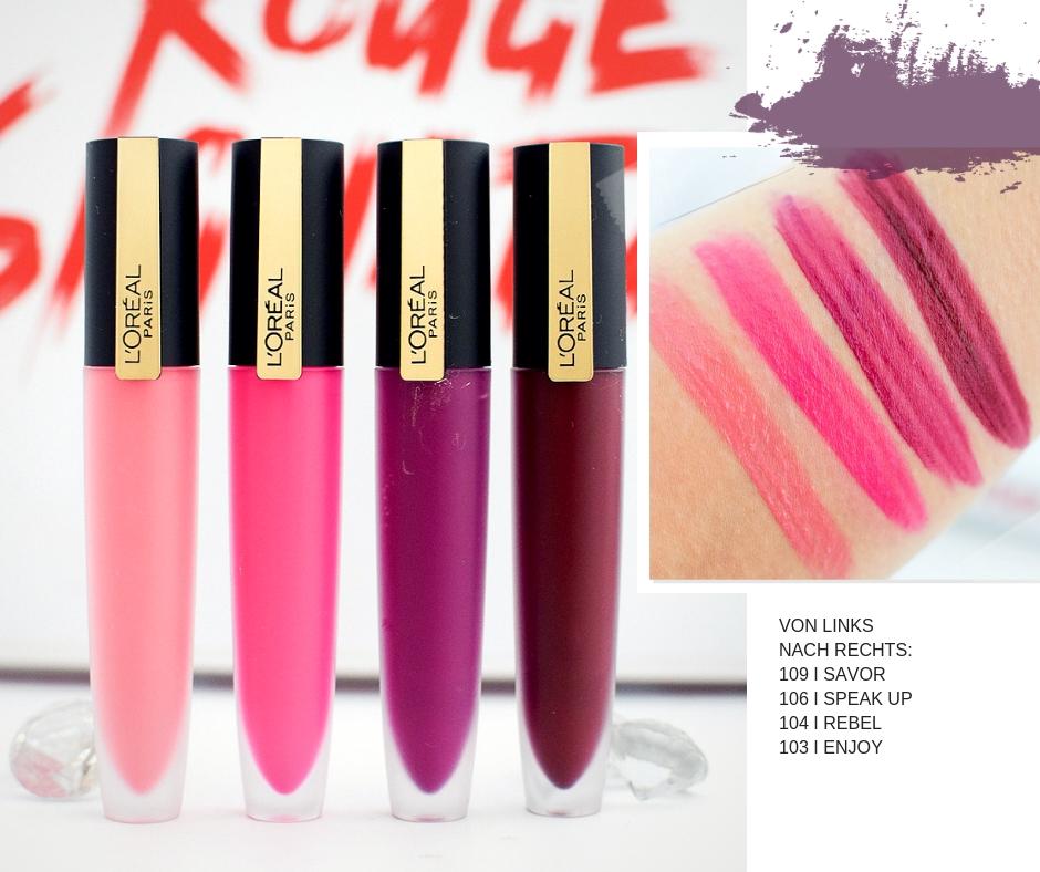 Wie gut sind die neuen L'Oréal Paris Rouge Signature, Review und Test