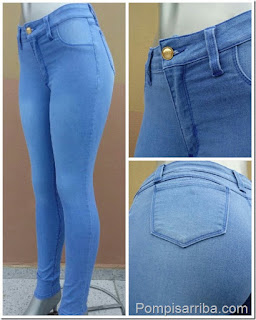 Jeans strech para mujer baratos en donde venden pantalones de mezclilla de moda