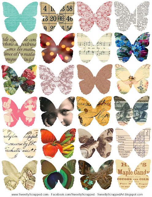 Images of Butterflies done with Magazines.
