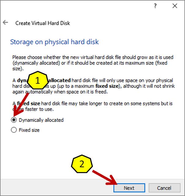 Instalasi Debian - Membuat Virtual Hard Disk