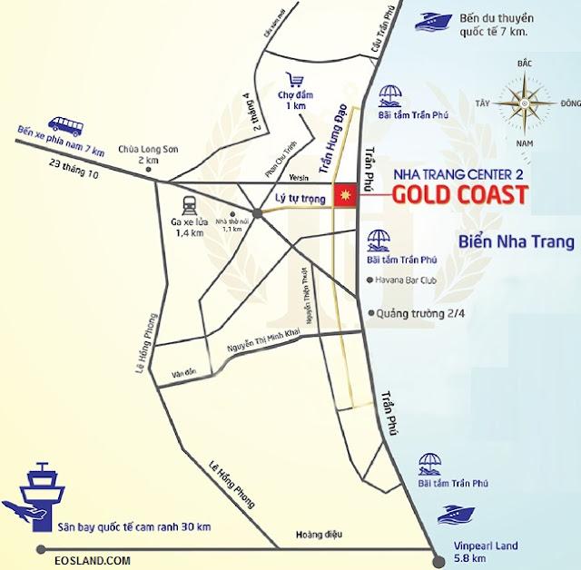 Vị trí Căn hộ Gold Coast Nha Trang