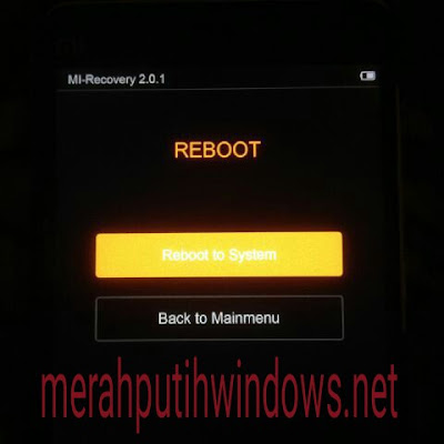 reboot after wipe complete