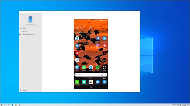 شاشة هاتف أندرويد تنعكس على كمبيوتر يعمل بنظام Windows