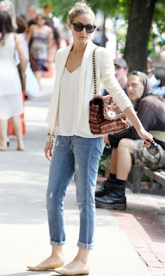 White Shirt and Blue Jeans  by Cool Chic Style Fashion