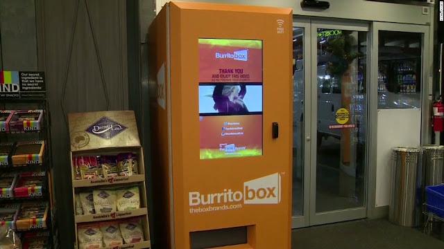 Maquina expendedora de burritos en Los Angeles, USA