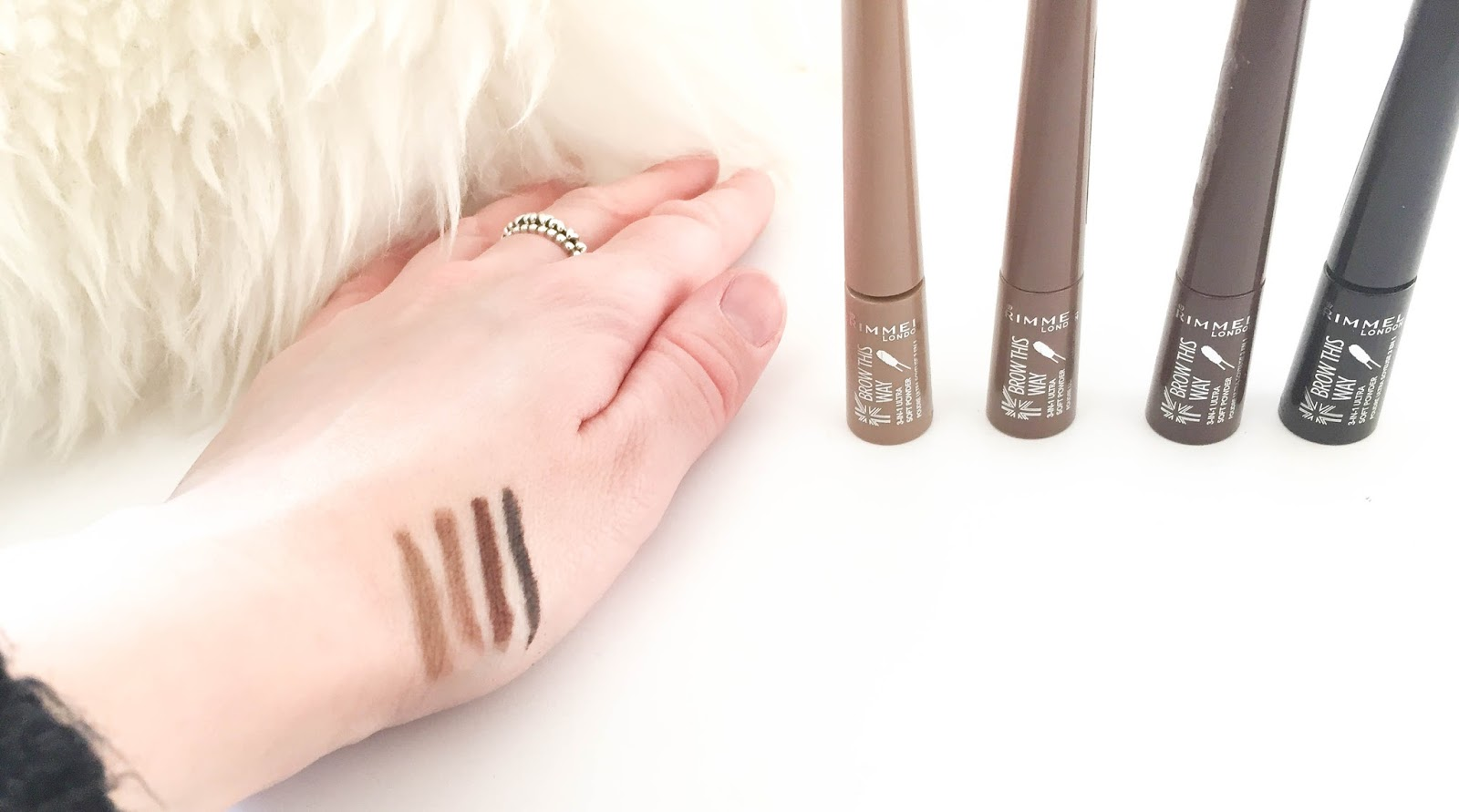 Rimmel London Brow This Way Shake Filling Powder Swatches