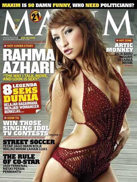 Foto Rahma Azhari di Majalah MAXIM