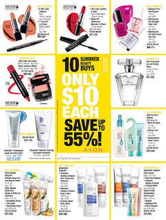 Avon 10 Summer  Beauty Buys Campaigns 14-17 Starts: 6/11/16 - 8/5/16