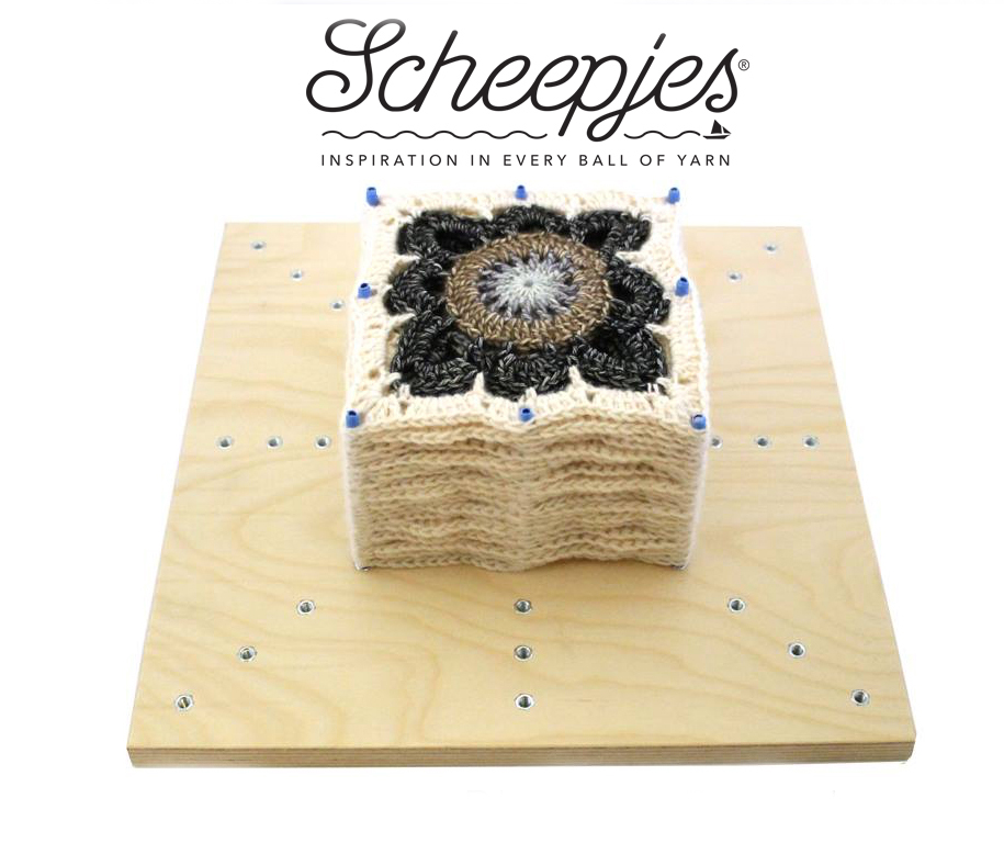 Blocking crochet projects with Scheepjes board