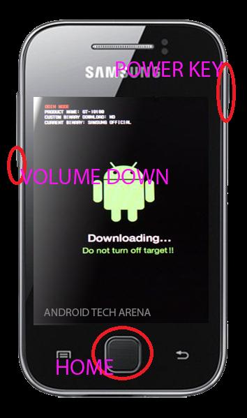 Masuk ke download mode samsung galaxy young s5360