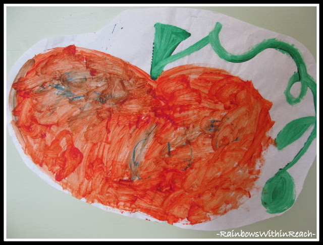 photo of: Fall Pumpkin Painting with Curling Vine (Fall RoundUP via RainbowsWithinReach)