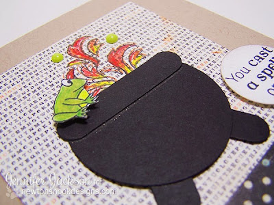 Halloween Cauldron Card using Magical Dreams by Newton's Nook Designs