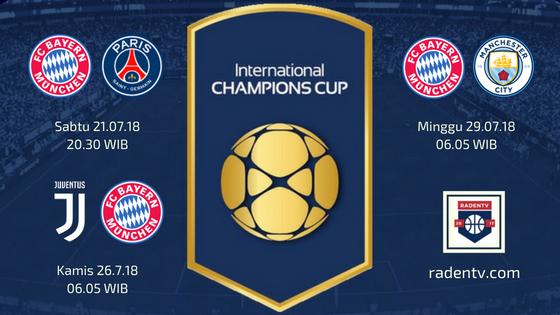 Jadwal Bayern Munchen di ICC 2018