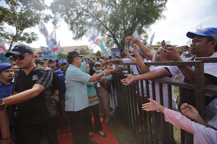 Ditengah Ribuan Massa, Ridho Paparkan Keberhasilan Pembangunan