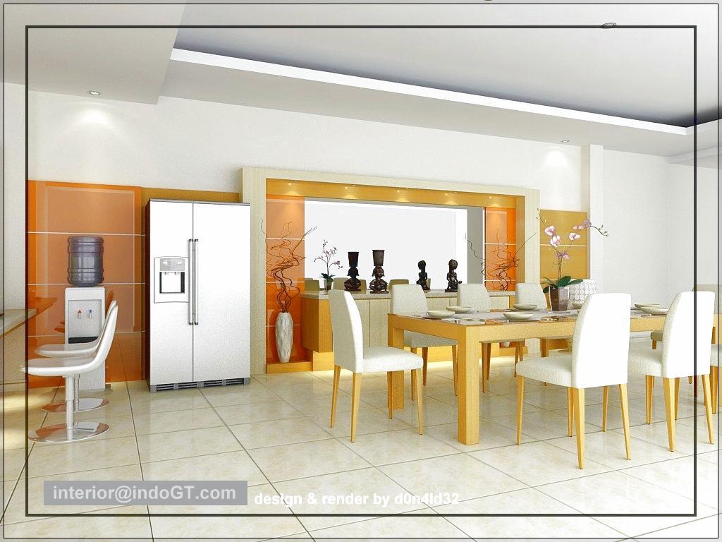 Dapur dan Ruang Makan Minimalis Menyatu Untuk Rumah