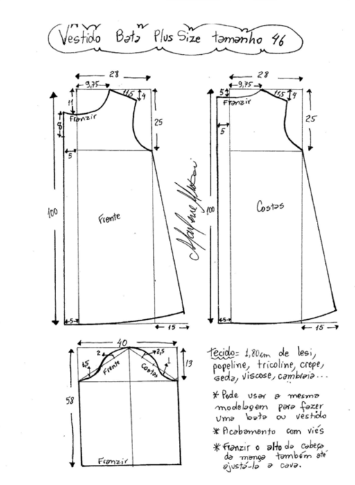Шьем платье размер 46
