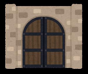 門のイラスト(西洋・閉)