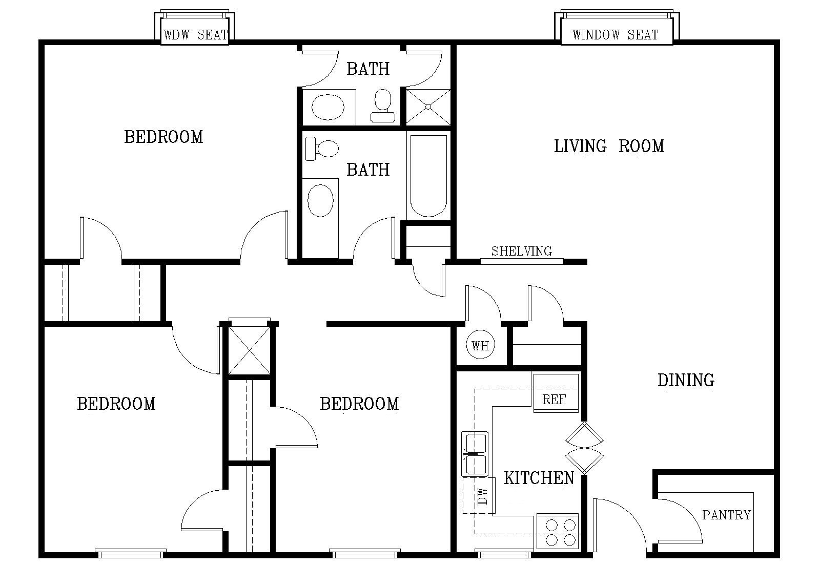 Standard Size Of Room In A Residential Buildings