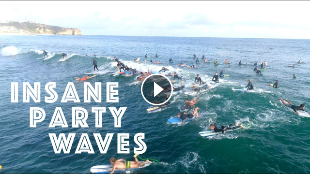 Surfers Catch INSANE Party waves at Salt Creek