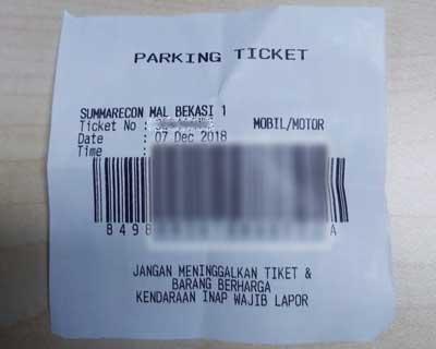 Tiket Parkir Summarecon Bekasi Tertinggal Dalam Dompet