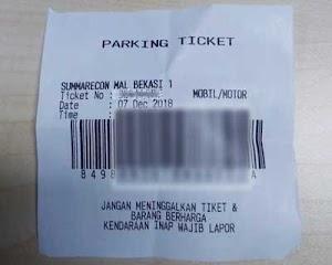 Faktor U: Tiket Parkir Tertinggal Dalam Dompet