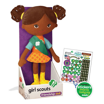 Gift for a Girl Scout-this Friendship Doll comes with stickers.