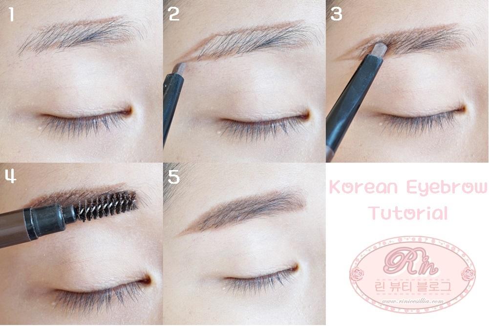 Tutorial: How to make Korean straight eyebrow - Rini ...
