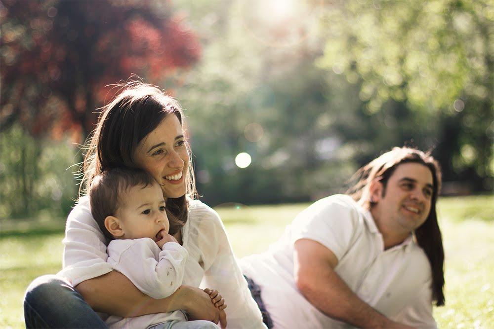 Fotografía de familia en Bilbao