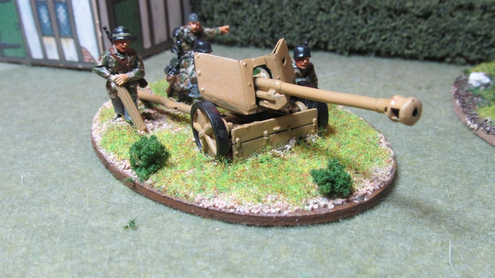 German 50 Mm Anti Tank Gun: Toy Soldiers And Dining Room Battles: Farschirmjager 75mm