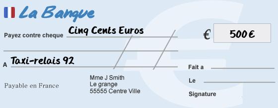 comment remplir ch u00e9que cinq cents euros euros