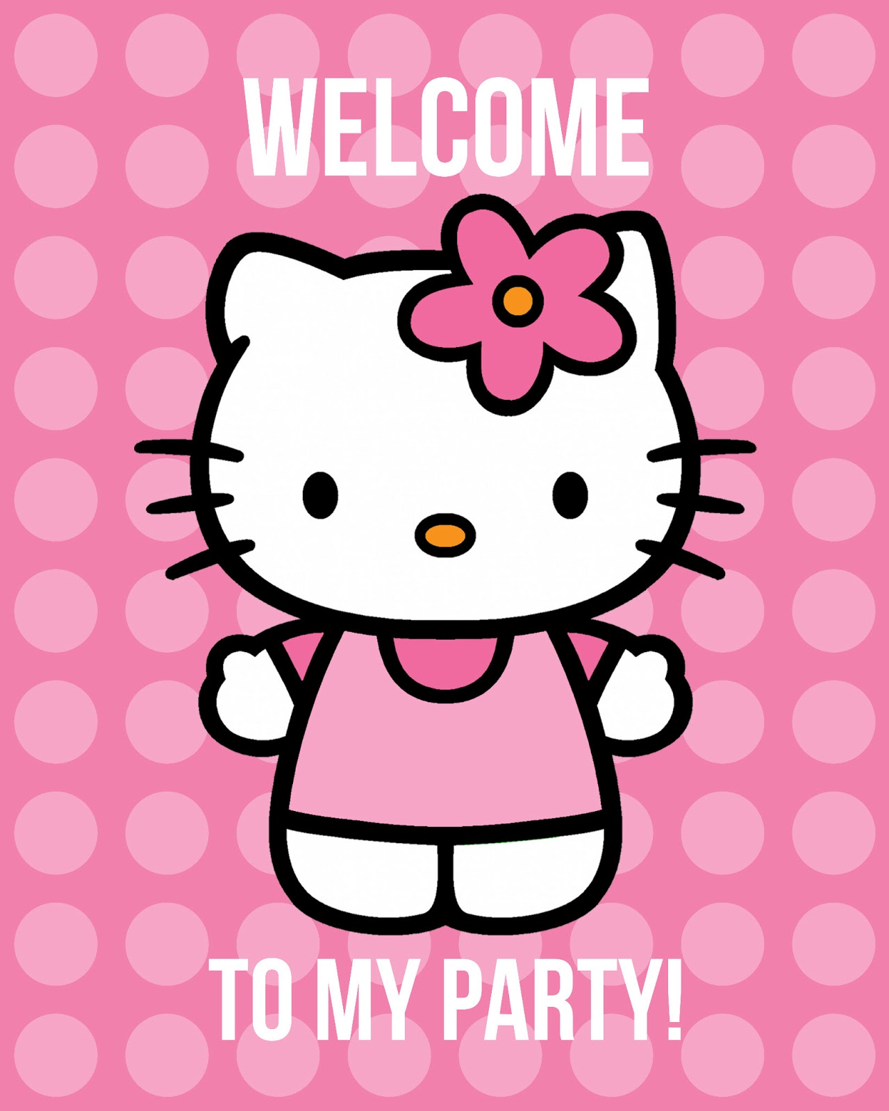 Dynamic image throughout hello kitty printable