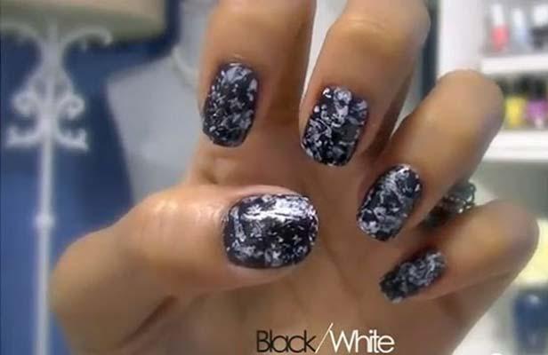 nail art stone effect 02