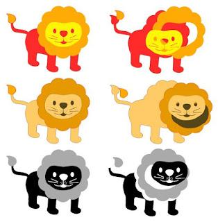Screenshot Schneidedatei mit 3 verschiedenen Figur-Versionen