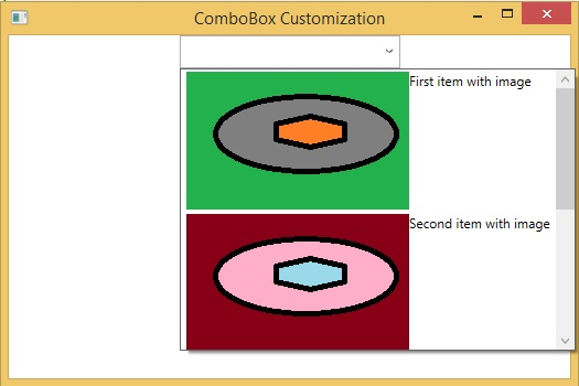 Customize items in combo box wpf