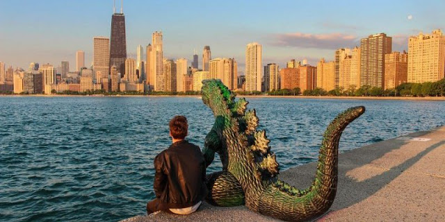 American travels with Godzilla