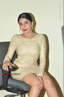 Actress Pooja Roshan Stills in Golden Short Dress at Box Movie Audio Launch  0058.JPG
