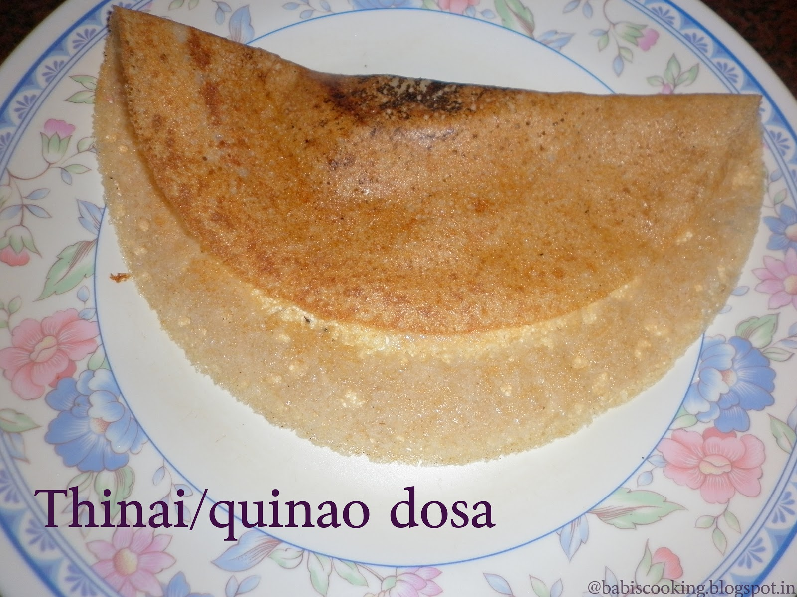 Thinai/quinao/fox millet dosa