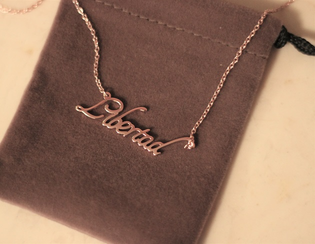 Soufeel Rose Gold Name Necklace