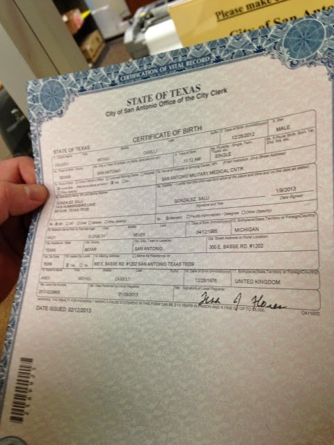 Bexar County Birth Certificate Free Professional Resume