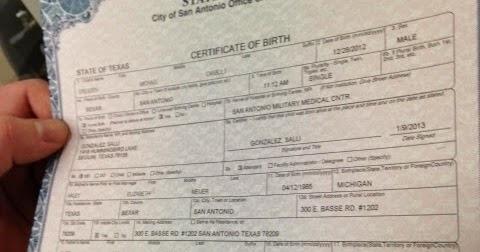 San Antonio Birth Certificate Texas Get Vital Record