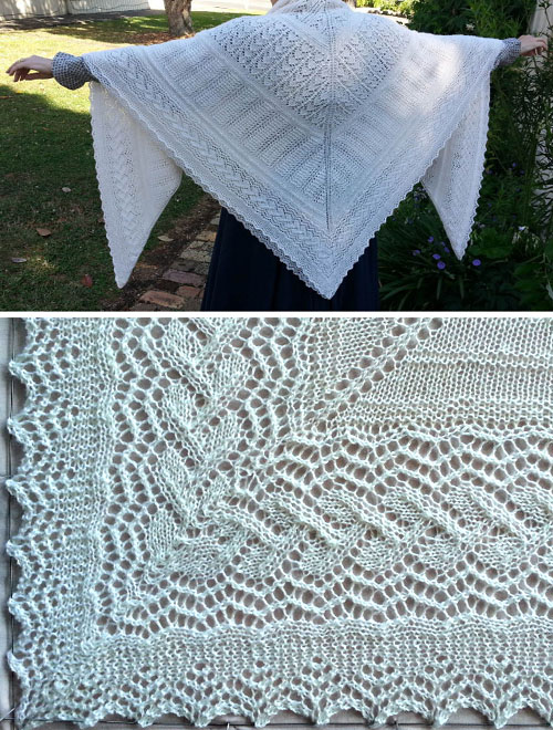 Mitred Corners for Shawl - Free Pattern