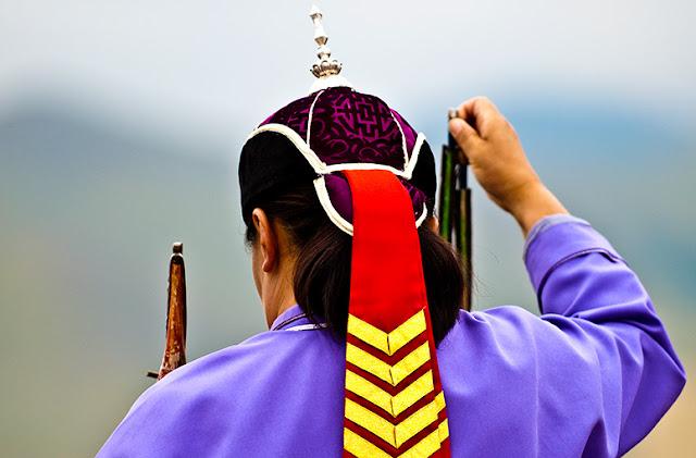 An archer at the Naadam Festival