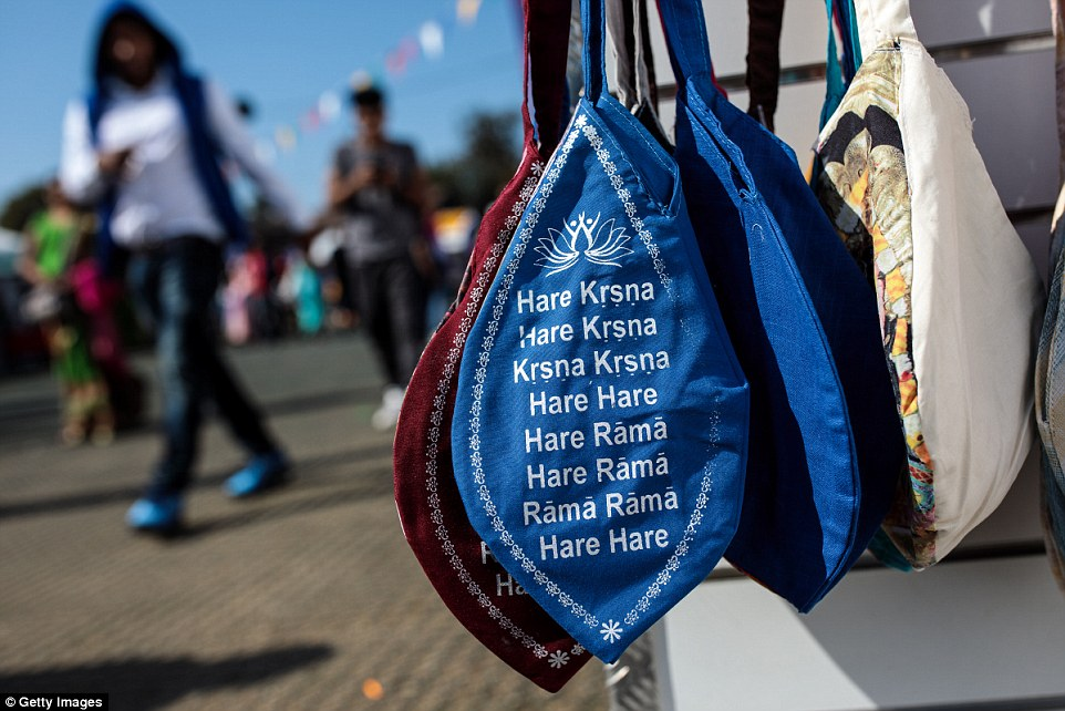 Japa bead bags for sale as a market place was set up for visitors to buy goods and support the charity