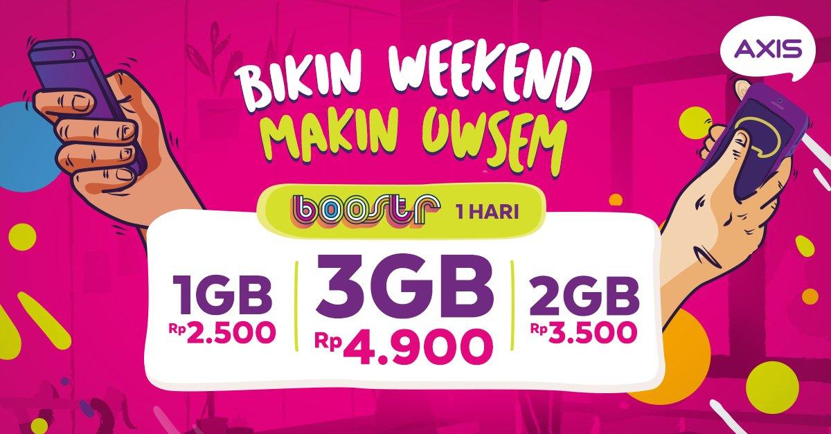 Axis - Promo Weekend Makin Owsem Mulai 1CG Cuma Rp.2500