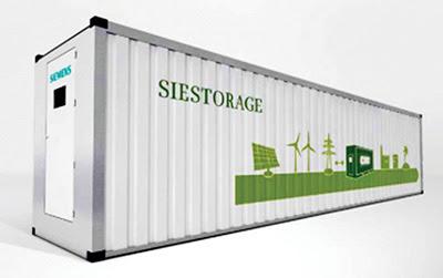 Siemens desenvolupa un sistema que emmagatzema energia renovable per a poder reutilitzar